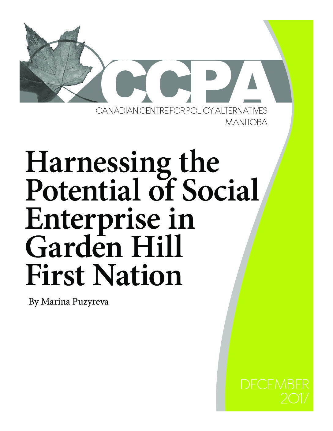 Harnessing the Potential of Social Enterprise in Garden Hill First Nation