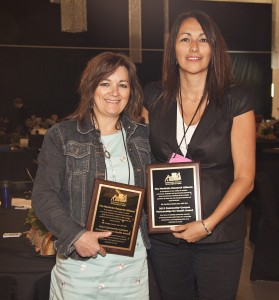 Shauna MacKinnon and Dianne Roussin with the 12th annual CCPH award